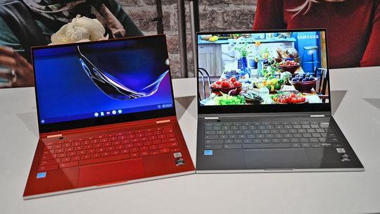 Впервые модели Samsung Galaxy Chromebook и ASUS Flip Chromebook (C436) были представлены на выставке CES 2020 в Лас-Вегасе в январе текущего года