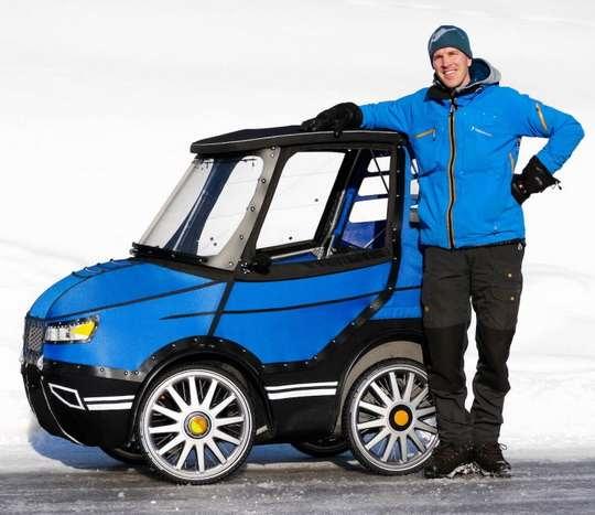 PodRide - это самодельный четырехколесный веломобиль от шведского конструктора Микаэля Кьельмана (Mikael Kjellman)