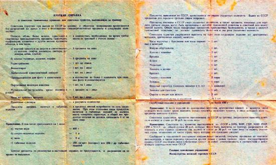 Документ, регламентирующий правила заграничного выезда