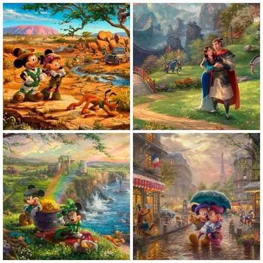 Томас Кинкейд был профессиональным художником и создал много удивительных работ.