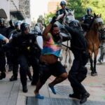 Беспорядки в Вашингтоне: более 100 силовиков получили ранения