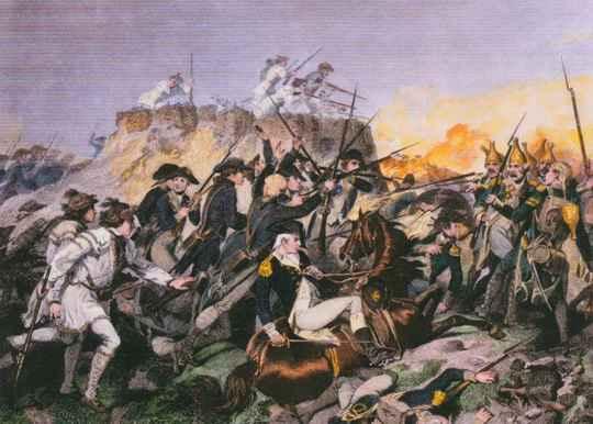 В битве при Джермантауне 4 октября 1777 года, одном из сражений Войны за независимость США, революционеры потерпели поражение от британцев.