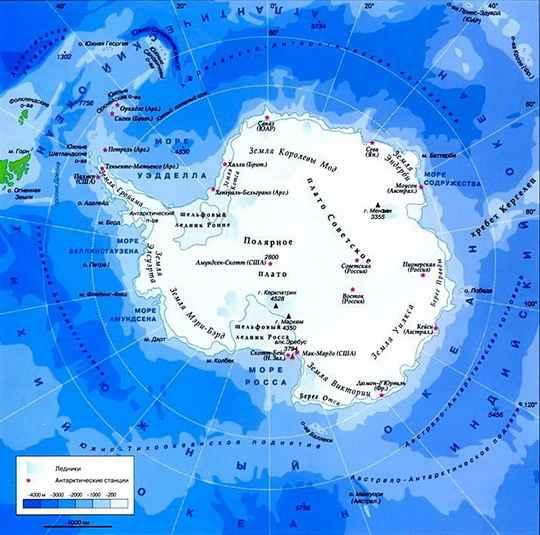С XVII века на картах помимо четырех общеизвестных океанов выделяли Южный океан