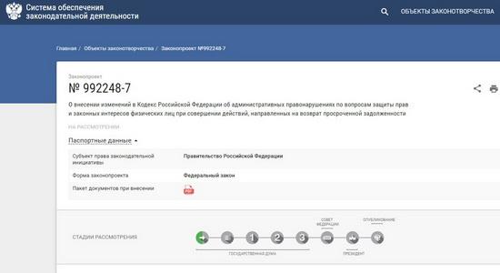 Документ размещен в электронной базе данных Госдумы.