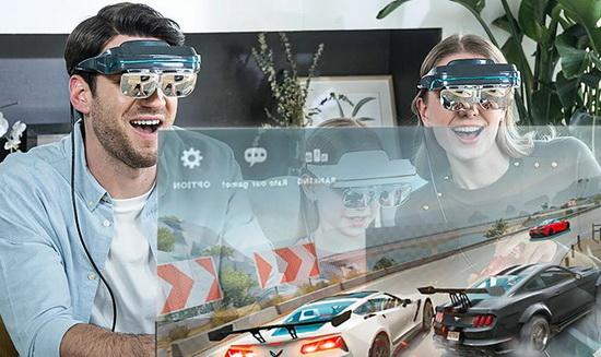 Очки дополненной реальности Dream Glass 4K получили plug&play-совместимость со смартфонами, PS4, XBOX, Nintendo Switch (для Nintendo Switch предусмотрен опциональный адаптер со встроенным аккумулятором), ноутбуками, системами управления дронами и т.д.