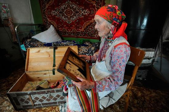 Жительница марийского села Малая Тавра