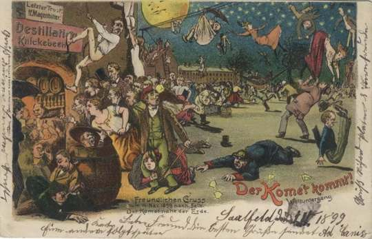 Самая знаменитая из всех апокалиптических теорий  предрекала человечеству неминуемую гибель из-за столкновения кометы Галлея с Землей в 1910 году. Задать свой вопрос