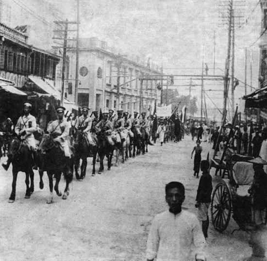 Китайская кавалерия в Харбине