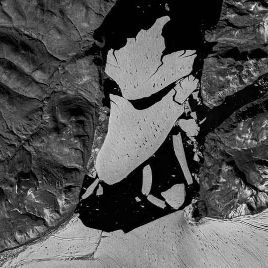 В Гренландии от крупнейшего из оставшихся арктических шельфовых ледников откололся большой массив льда площадью около 110 кв. км