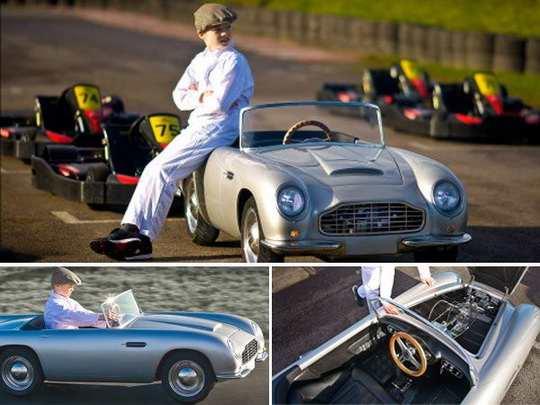 Компании Aston Martin и The Little Car Company представили детский автомобиль Aston Martin DB5 Junior – уменьшенную электрическую копию «бондовского» DB5 в масштабе 2:3