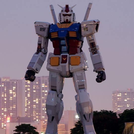 В японской Йокогаме состоялась разминка-презентация робота Gundam, построенного по образу популярного персонажа манги и комиксов.
