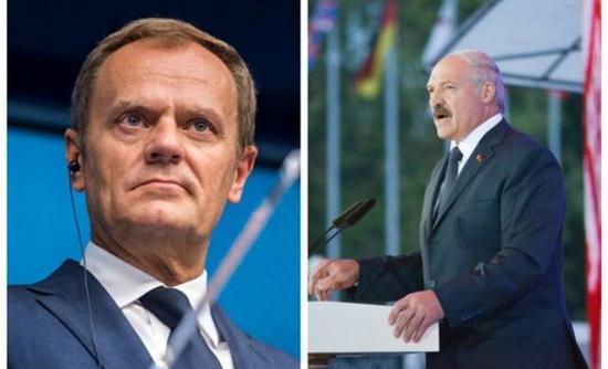 причиной внесения Лукашенко в базу «Миротворца» авторы называют интервью экс-премьера Польши Дональда Туска польскому изданию Onet