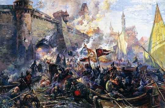 Взятие Казани стало самым известным военным походом первой половины царствования Ивана IV.