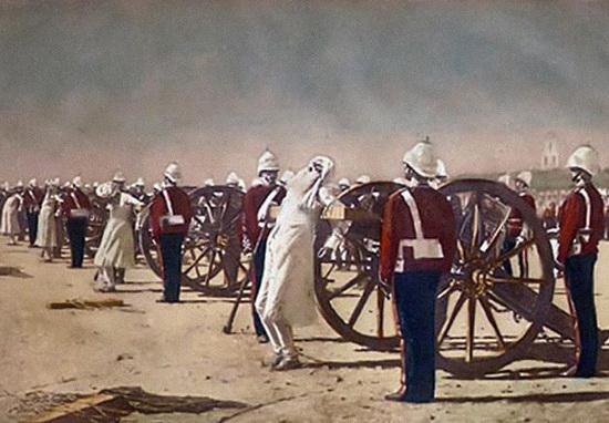 Подавление индийского восстания англичанами