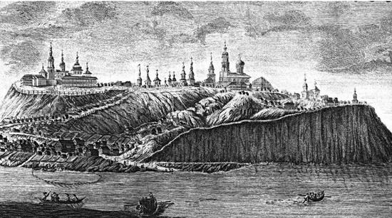 Свияжск. Гравюра середины XVIII века