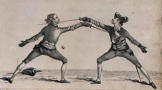Однажды в Германии 16-го века заезжий мастер меча вызывал на бой местного булочника.