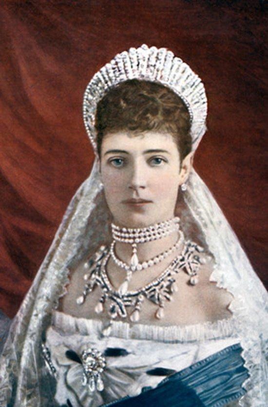 Императрица Мария Федоровна в русской тиаре