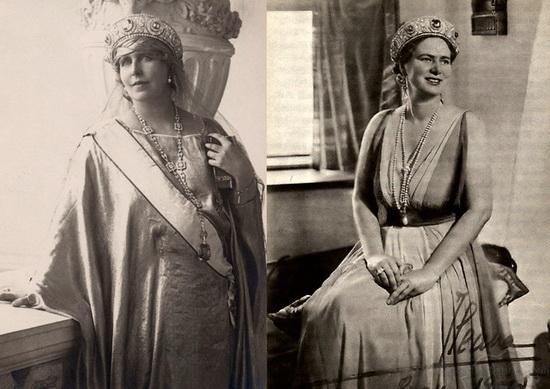 Румынская королева Мария и принцесса Илеана
