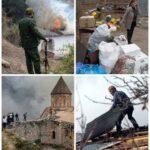 Жители покидают Нагорный Карабах после перемирия (фото)