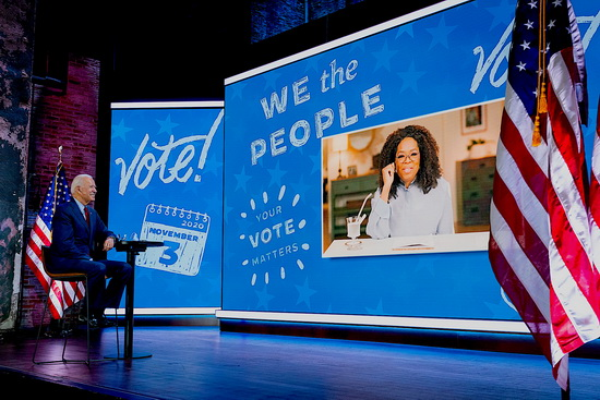 """OWN Your Vote"" event with Oprah, Oct. 28, 2020. (Joe Biden, Flickr, (CC BY-NC-SA 2.0)"