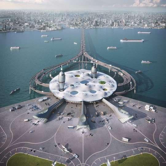 Организация «Spaceport Japan» (Космопорт Япония) представила концепт будущего грандиозного многофункционального центра космического туризма.