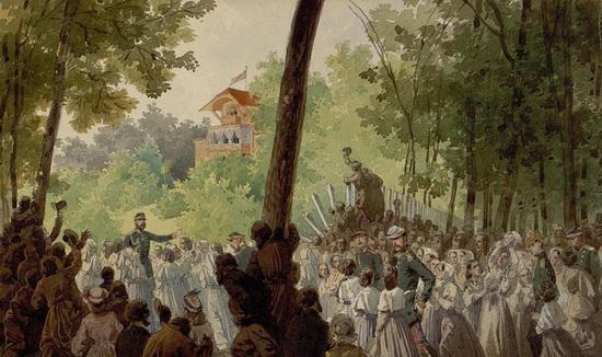Александр I и группы крестьян
