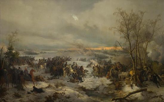 Картина Петера фон Гесса, показывающая сражение под Красным / ©Wikimedia Commons