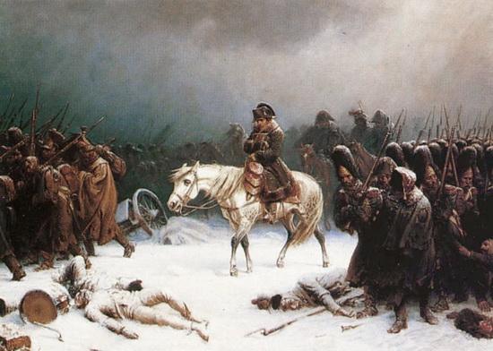 Наполеон и его армия на дорогах отступления от Москвы, картина английского художника / ©Wikimedia Commons
