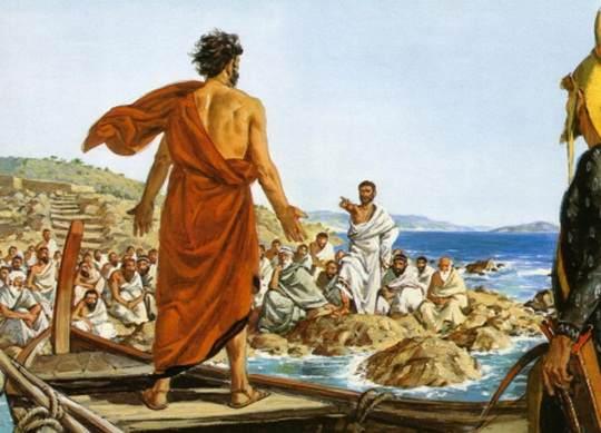 В древней Греции: изгнание опасных для государства граждан