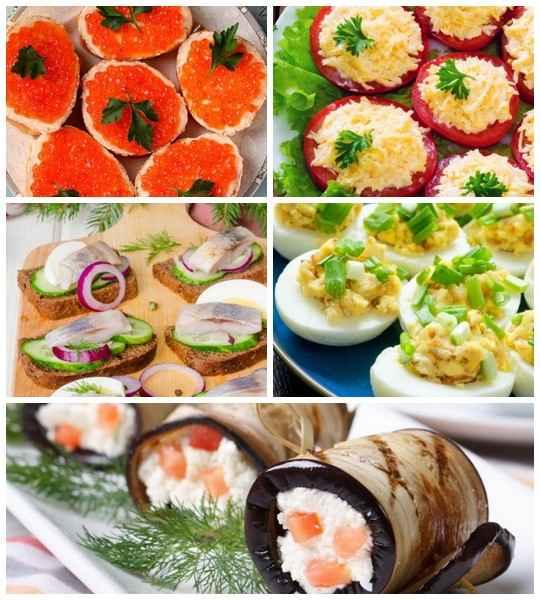 Новогодние закуски – блюда, которые разогревают аппетит перед подачей основных новогодних блюд, или которыми закусывают многочисленные новогодние тосты.