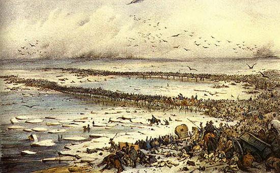 картина переправы через Березину