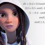 3D портрет девушки, с помощью математики