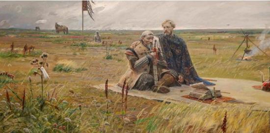 Александр Невский и Сартак, сын Батыя. Источник pinterest.ru