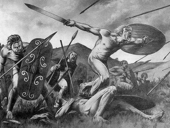 Древнегерманские берсерки в представлении «голорубашечников»
