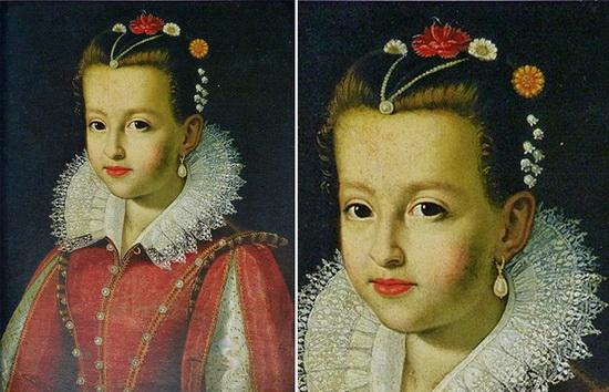 Мария Медичи в детстве. Картина в настоящее время находится в Палаццо Питти во Флоренции.