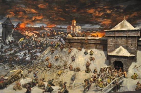 Штурм Рязани 21 декабря 1237 года. Источник pinterest.ru