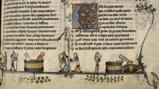 Цистерианские цифры присутствуют в этом фламандском манускрипте по виноделию XIV века