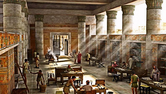Это была, возможно, самая грандиозная библиотека для своего времени.