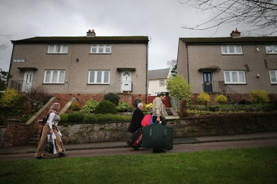 Беженцы из Сирии на шотландском острове Бьют