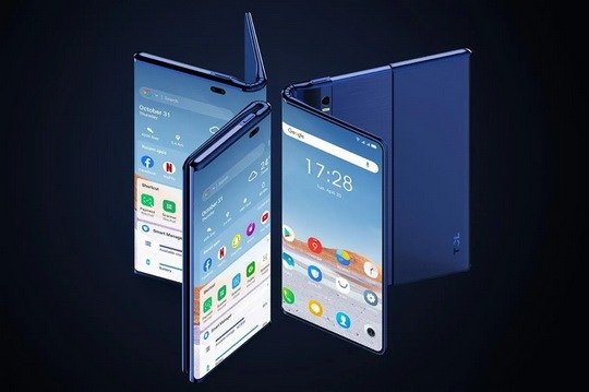 TCL представила уникальный смартфон Fold'n'Roll, который имеет два способа увеличения площади дисплея — его можно сгибать и растягивать.
