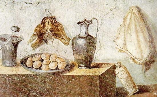 Римская фреска — птицы и яйца [Помпеи, неизв. худ.]. Источник: Wikimedia Commons