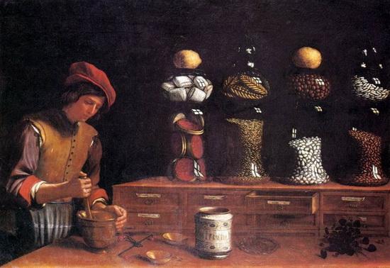 Лавка пряностей [худ. П. Барбьери, 1637]. Источник: Wikimedia Commons