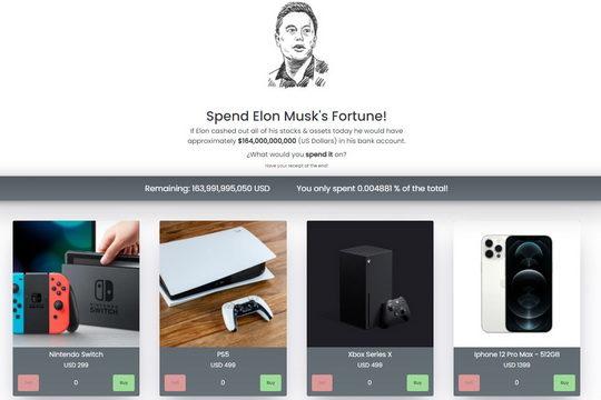Итальянский разработчик Нино Тривелли создал сайт, который на несколько минут позволяет почувствовать себя Илоном Маском