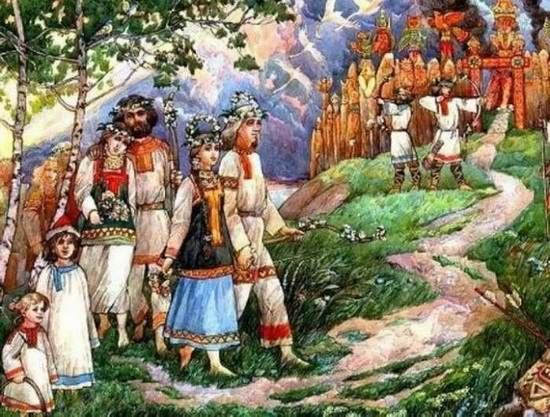 Язычники хранили обряды и передавали их из поколенья в поколенье