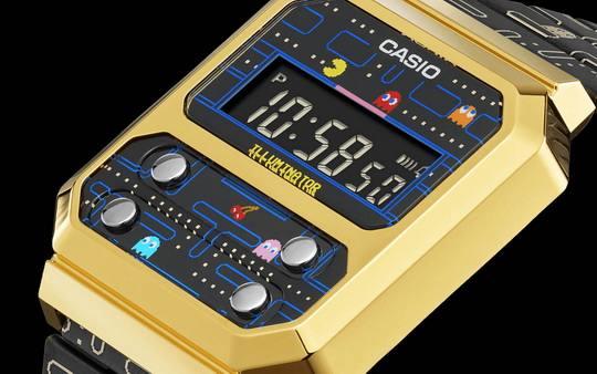 """Любители персонажей культового """"пожирателя точек"""" – Pac-Man – могут приобрести уникальные часы, изготовленные известной компанией Casio."""