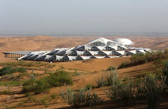 В автономном районе Внутренняя Монголия в Северном Китае, в 560 км от Пекина, в пустыне Xiangshawan расцвел Песчаный Лотос