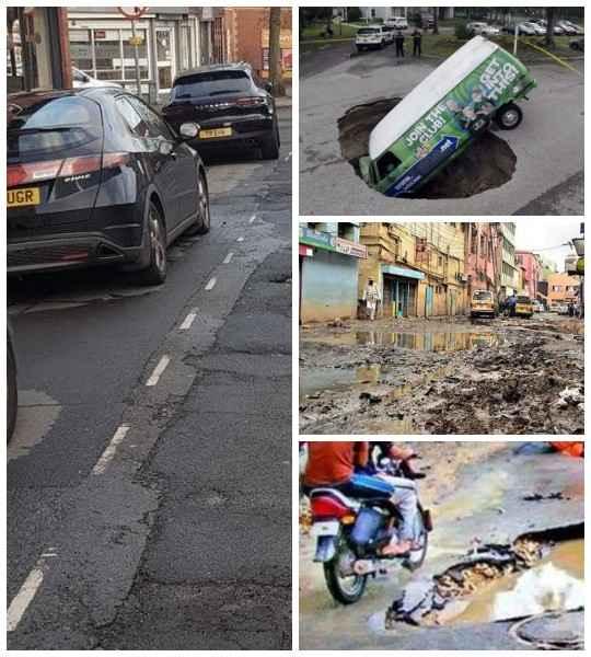 Оказывается, плохие дороги не только у нас, весь мир страдает от некачественного ремонта