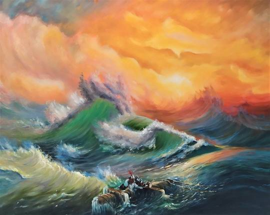 Каждая волна — это совокупность волн разной длины, которые распространяются по поверхности с разной скоростью